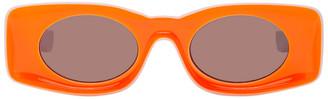 Loewe White and Orange Paulas Ibiza Square Sunglasses