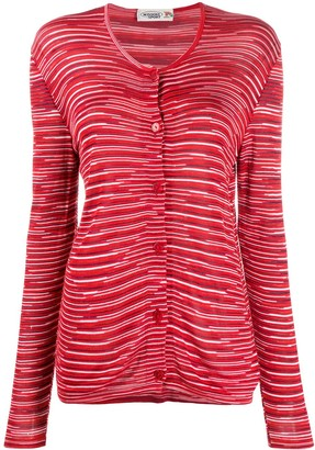 Missoni Pre Owned 1990s Striped Slim-Fit Cardigan