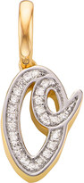 Monica Vinader 18ct yellow-gold vermeil and diamond alphabet pendant O