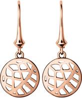 Links of London Timeless 18ct rose-gold vermeil drop earrings