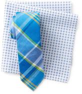 Original Penguin Morey Plaid Tie & Pocket Square Set