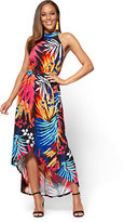 New York & Co. Halter Maxi Dress - Palm Print