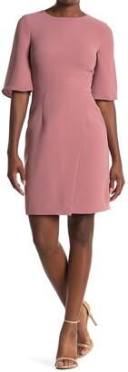 Reiss Myra Cross Front Quarter Sleeve Dress