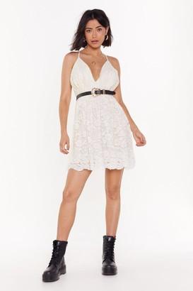 Nasty Gal Womens Heaven is a Lace on Earth Mini Dress - white - 8