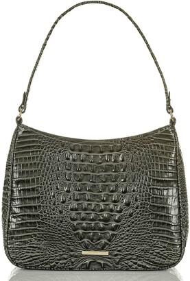 Brahmin Meg Melbourne Croc Embossed Leather Shoulder Bag