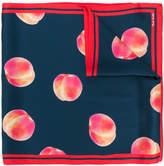 Paul Smith peach print scarf