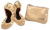 Journee Collection Women's Sidekicks Round Toe Foldable Bow Ballet Flats