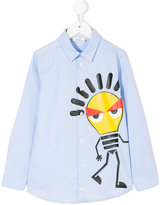 Fendi light bulb monster print shirt