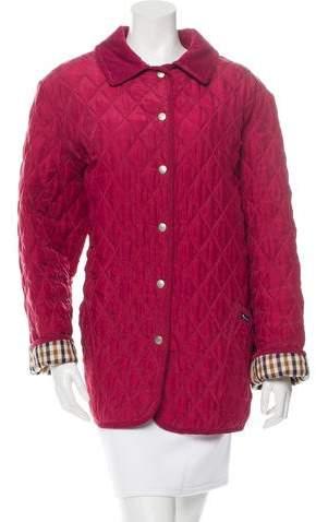 Aquascutum London Silk Quilted Jacket