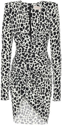Alexandre Vauthier Exclusive to Mytheresa Animal-print stretch-jersey minidress