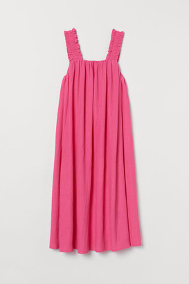 H&M Bow-detail A-line Dress - Pink