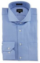 Neiman Marcus Classic-Fit Regular-Finish Textured Dress Shirt, Light Blue