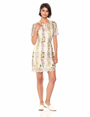 Cupcakes And Cashmere Women's Gram Embriodered Mesh Fit and Flare Dress