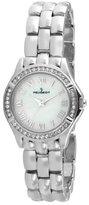 Peugeot Women's 7037S Swarovski Crystal Bezel Silver-Tone Bracelet Watch