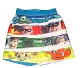 Disney Pixar Little Boys Toddler All Stars Character Swim Trunks (24 Months)
