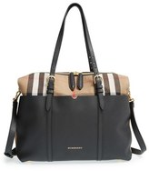 Burberry Infant 'Mason - House Check' Diaper Bag - Black