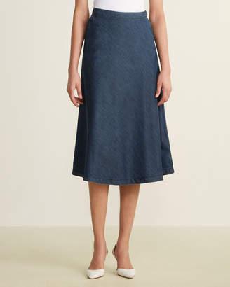 Le Mont St Michel Denim A-Line Skirt