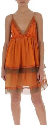 Alberta Ferretti V-Neck Mini Dress