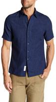 Gant Self Stripe Short Sleeve Regular Fit Shirt