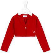 MonnaLisa cropped cardigan - kids - Cotton - 8 yrs