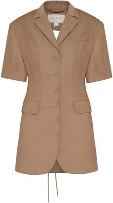 MATERIEL Wool-Blend Mini Blazer Dress