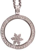 Chopard 18K White Gold Snowflake Diamond Pendant Necklace