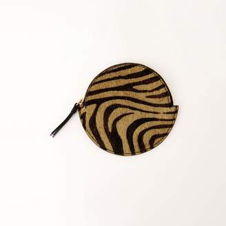 Warehouse LEATHER ROUND COIN PURSE