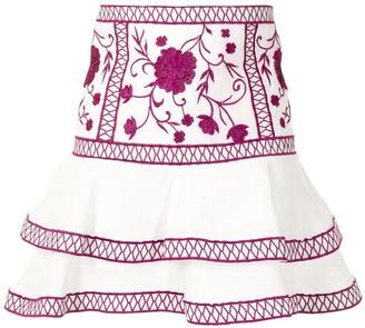 Alexis Cedra linen mini skirt