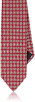 Barneys New York MEN'S MEDALLION-EMBROIDERED SILK NECKTIE
