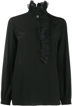 Gucci Square G ruffled collar blouse
