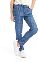 Gap Embroidered Tencel® pull-on pants