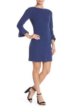 Spense 3/4 Sleeve Scuba Sheath Solid Dress