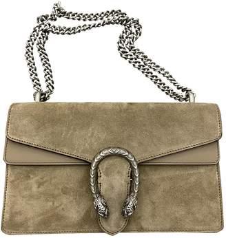 Gucci Dionysus Khaki Suede Handbags