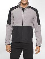Calvin Klein Mens Fleece Logo Jacket