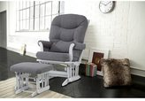 Dutailier Ultramotion Grey Multi-position Glider Recliner and Ottoman