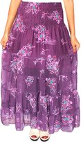Maple Clothing Womens Printed Indian Long Beach Skirts Maxi Length India Apparel
