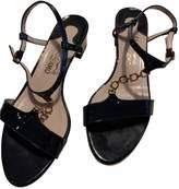 Salvatore Ferragamo Blue Patent leather Sandals