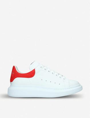 Alexander McQueen Show leather platform trainers