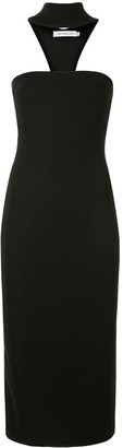 CHRISTOPHER ESBER reverse T-Bar midi dress