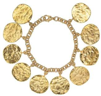 Kenneth Jay Lane Gold Coin Charm Bracelet
