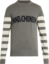 Oamc Pandaemonium crew-neck stretch-cotton sweater