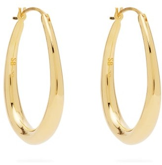 Sophie Buhai Tiny Egg Gold Vermeil Hoops - Gold