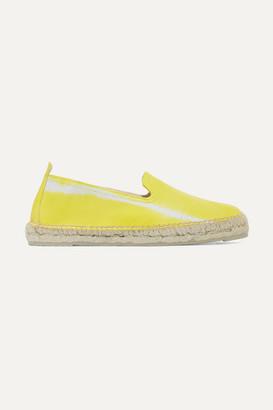 Manebi Tie-dyed Leather Espadrilles - Yellow