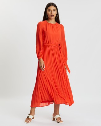 Atmos & Here Lila Gathered Midi Dress