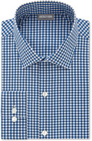 Kenneth Cole Reaction Men's Techni-Cole Slim-Fit Performance Blue Check Dress Shirt