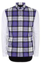 J.w.anderson Contrast Sleeve Check Shirt