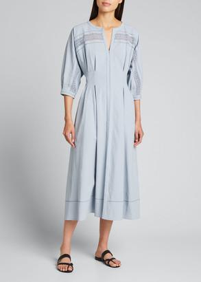 Collectiva Concha Lace-Trim Midi Dress