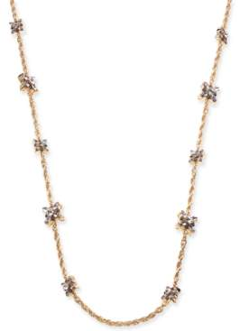 "Charter Club Gold-Tone Purple Crystal Long Necklace, 42"" + 2"" extender, Created for Macy's"