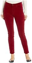Hudson Jeans Barbara Velvet High-Waist Super Skinny Ankle in Oxblood (Oxblood) Women's Jeans