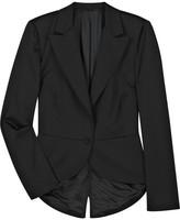 Satin tuxedo-style blazer